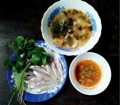 Canh chua me đất nấu cá cơm – Món ngon xứ Huế