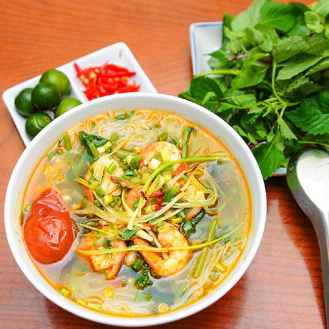 Bún tôm kho đánh – Món ăn độc đáo của người dân  xứ Huế