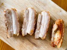 Thịt heo quay giòn bì  ( Dùng bằng chảo hoặc Lò nướng)
